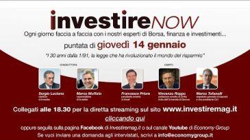 Investire Now  Guarda la diretta - puntata di giovedì 14 dicembre