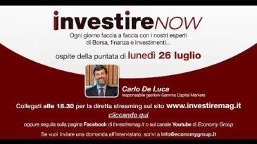 INVESTIRE Now Oggi ospite Carlo De Luca, Responsabile Gestioni Gamma Capital Markets