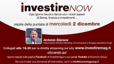 Starace (Anasf) ospite di InvestireNowConsulentia al via: tutte le novità